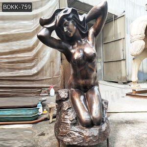 Metal Art Modern Bronze Nude Girl Statue for Sale BOKK-759