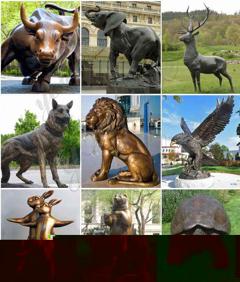 Bronze animal sculpture for sale