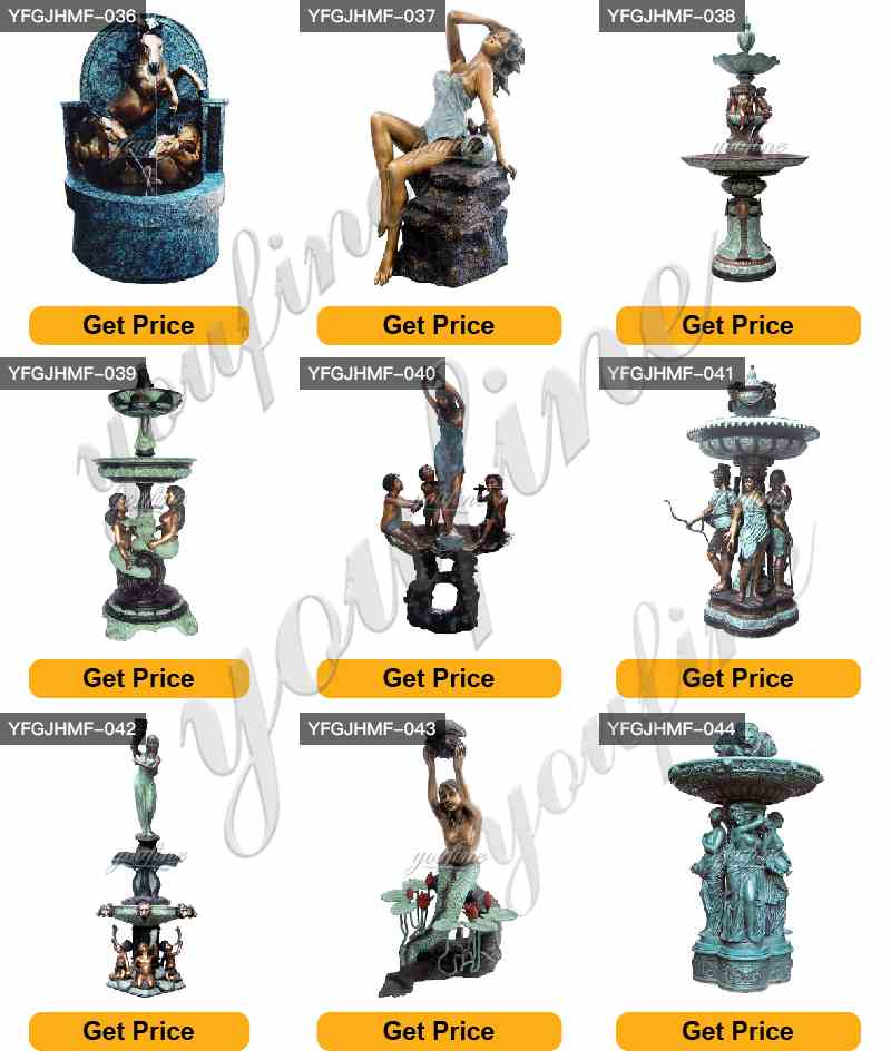 Bronze water fountains