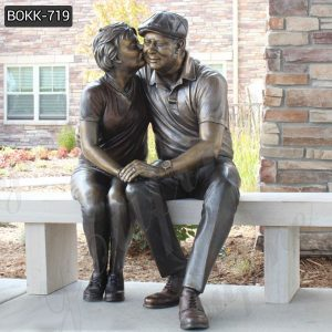 Custom Bronze Grandparents Statue from Photo Suppliers BOKK-719