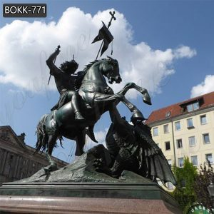 Famous Large Bronze St. George and Dragon Statue for Sale BOKK-771