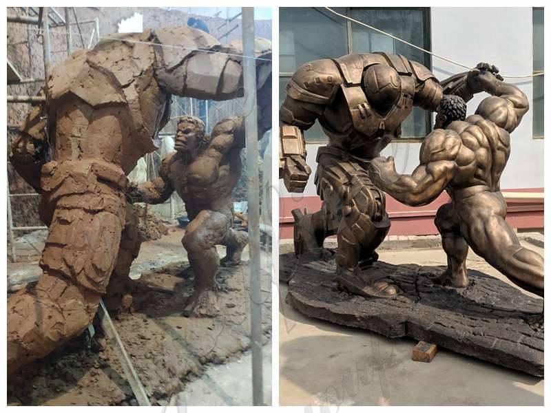 Hulk and Samurai Bronze Statue
