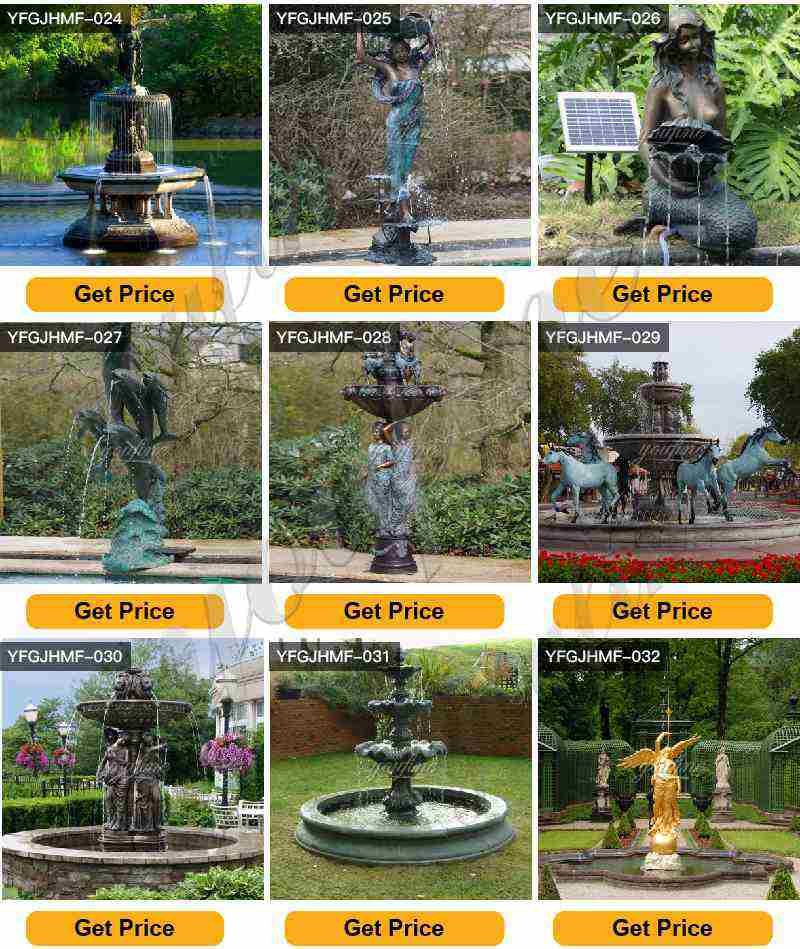 Large Garden Bronze Statuary Fountain