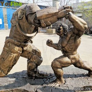 Movie Star Large Hulk and Samurai Bronze Statue Suppliers BOKK-776
