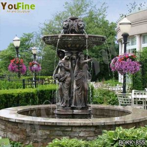 Large Outdoor Bronze Garden Fountain with Maiden Statues Suppliers BOKK-855