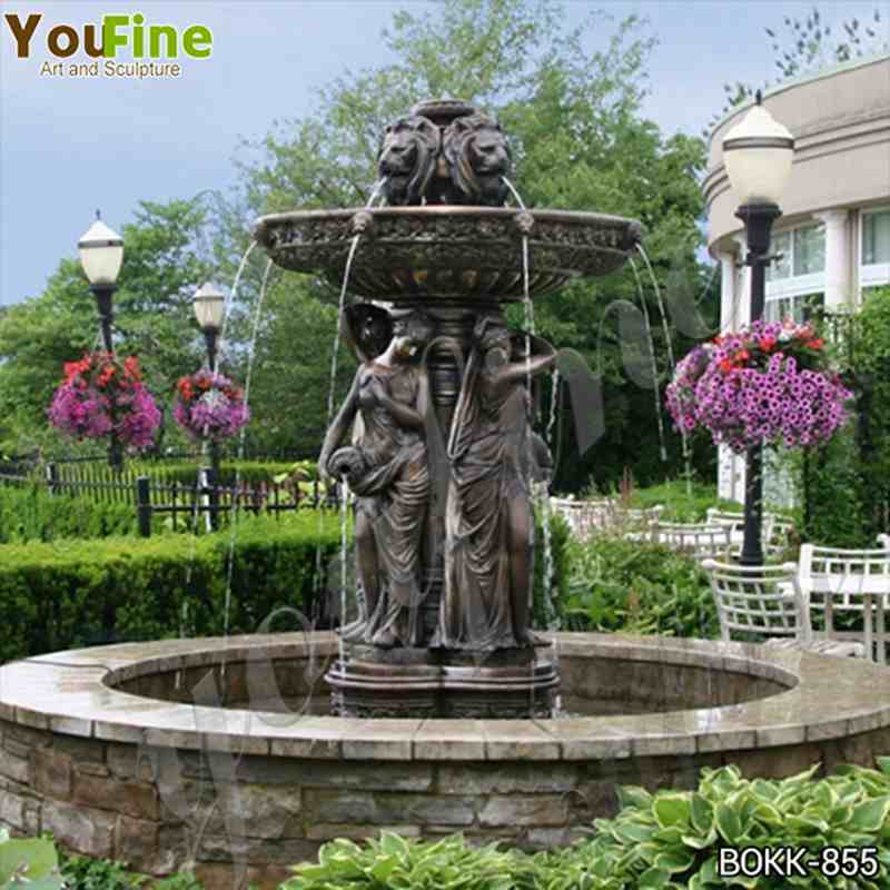 Large Outdoor Bronze Garden Fountain with Maiden Statues Suppliers