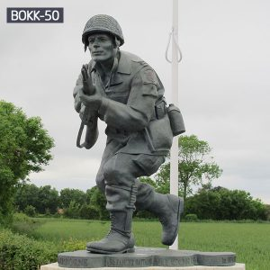 Life Size Memorial Bronze Soldier with Gun Statue for Sale BOKK-50