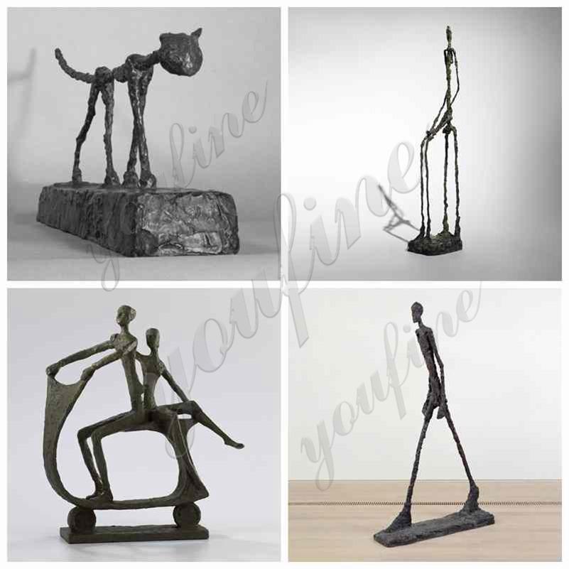 Modern Bronze Cat Sculpture by Giacometti