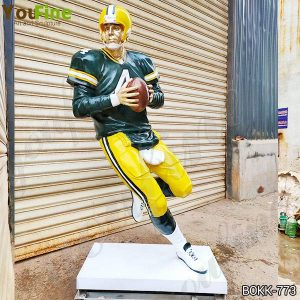Customized Outdoor Bronze Rugby Man Statue for Sale BOKK-773