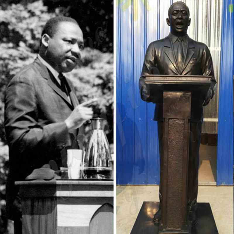 bronze-statue-Martin-Luther-King-on-speech-replica
