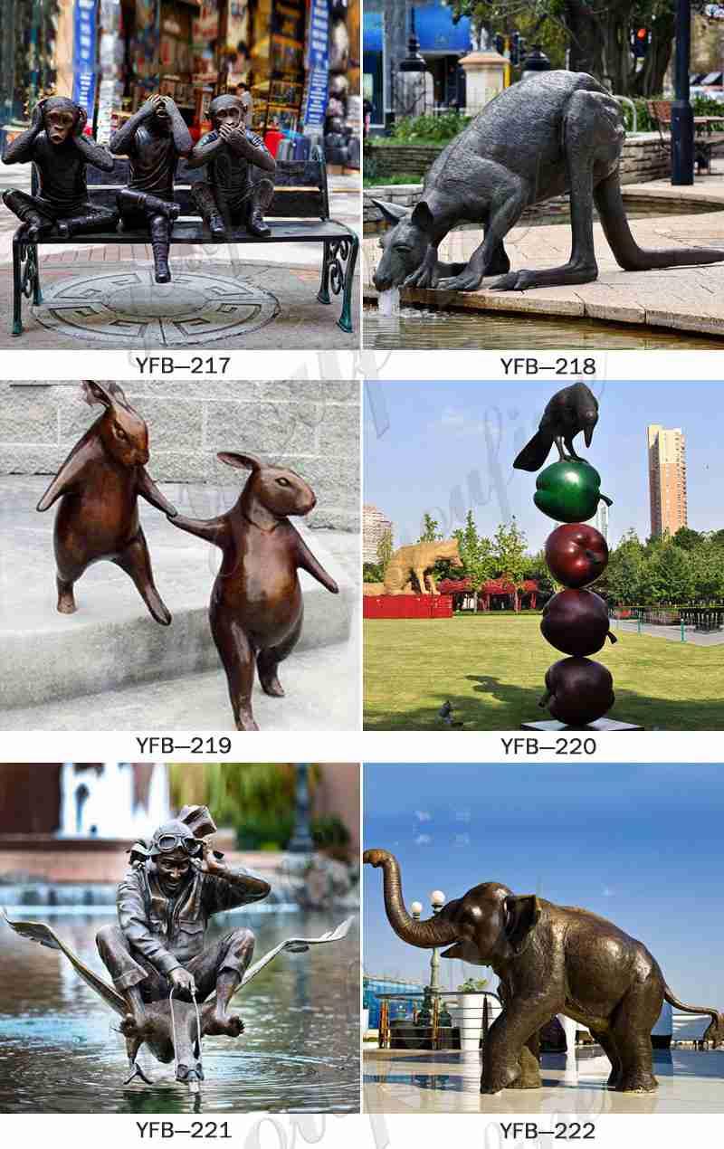 modern art bronzr sculpture for sale