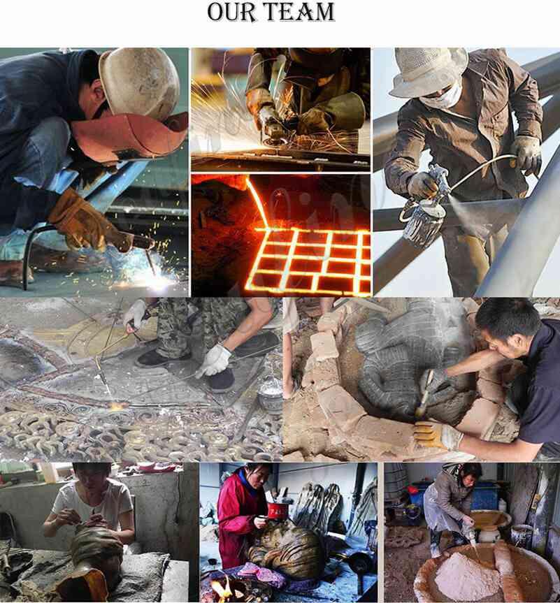 process of custom made bronze statues