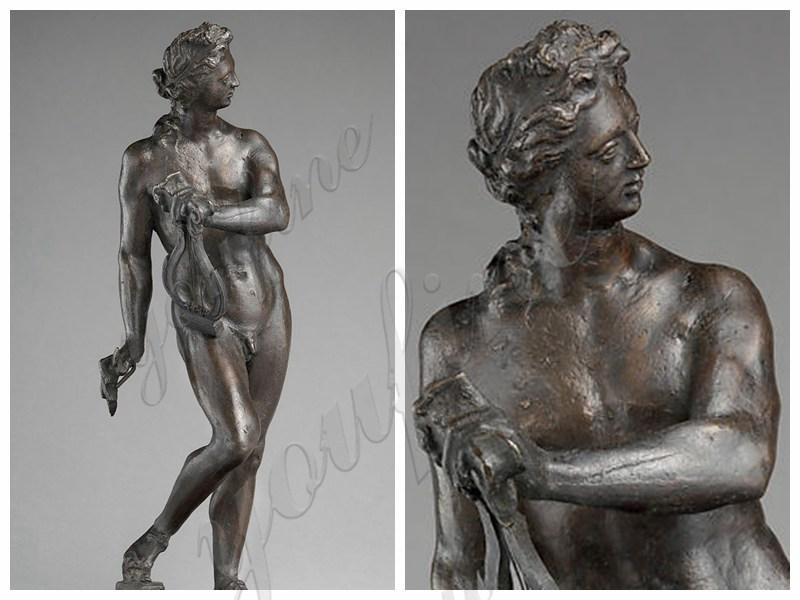 Classic Greek Apollo with Lyre Bronze Sta