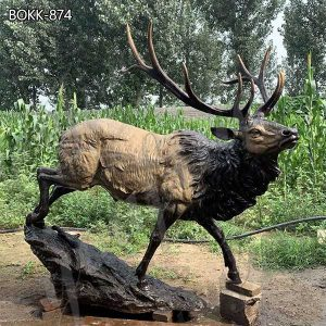 Hot Selling Bronze Elk Animal Statue for Home Garden Suppliers BOKK-874