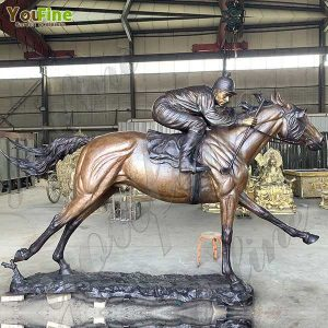 Hot Selling Large Bronze Racing Horse Statue from You Fine Bronze Factory