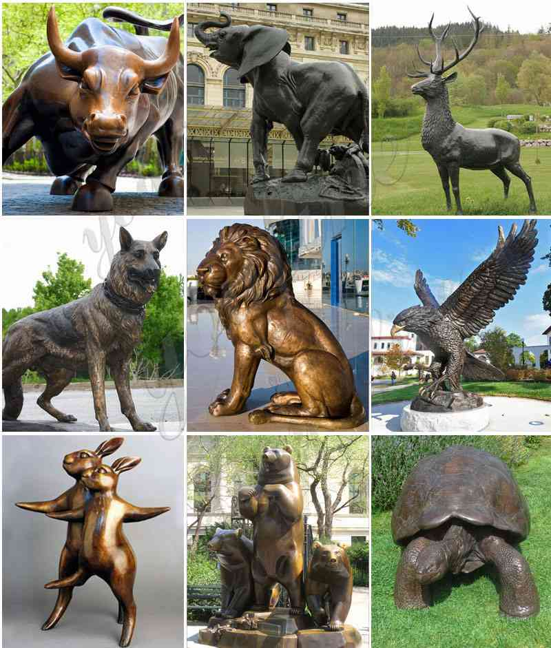Large bronze elephant statues