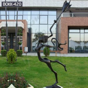 Life Size Abstract Bronze Girl Garden Sculpture for Sale BOKK-420