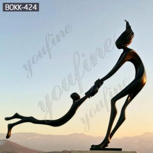 Outdoor Life Size Bronze Abstract Figurative Statue for Sale BOKK-424