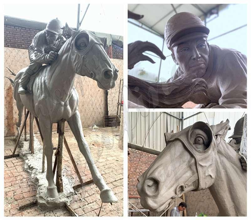 antique bronze horse statue