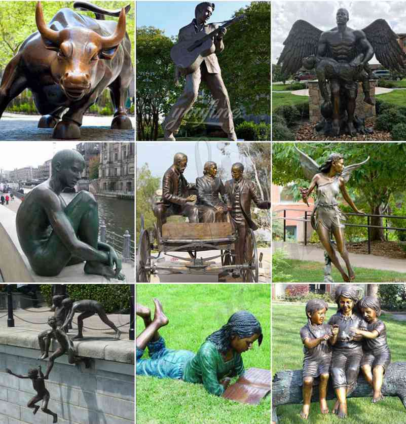 bronze garden sculpture uk