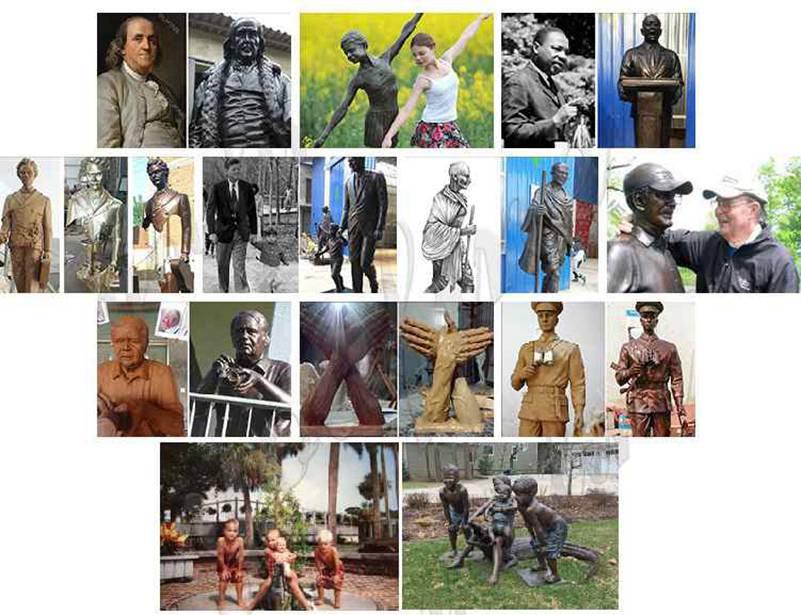custom life size bronze statues