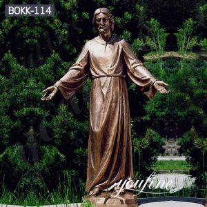 Antique Large Outdoor Bronze Jesus Garden Statue for Sale BOKK-114