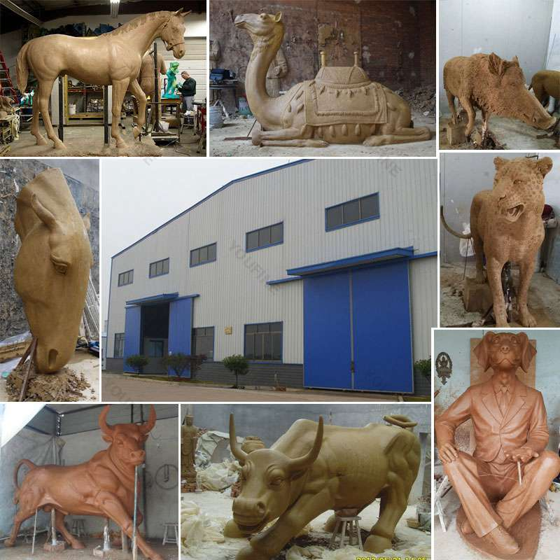 Bronze animal garden statue
