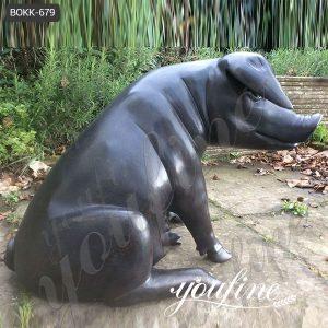 Life Size Garden Solid Bronze Wild Boar Statue for Sale BOKK-679