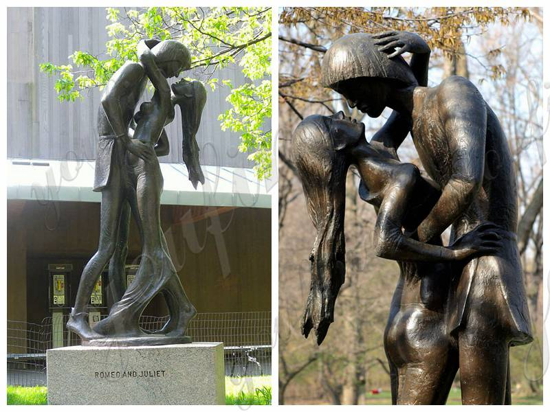 Life Size Bronze Romeo and Juliet Statue