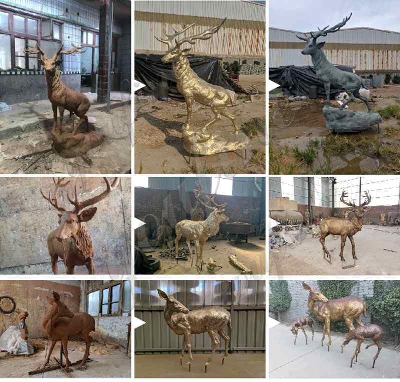 Life Size Bronze Animal Statue for Sale