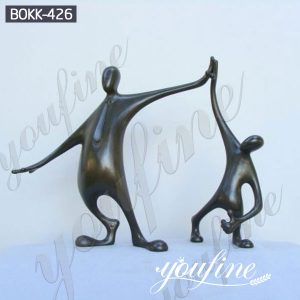 Life Size Well Done the Winner Bronze Garden Statue Suppliers BOKK-426