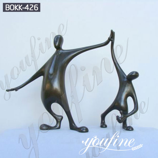 Life Size Well Done the Winner Bronze Garden Statue