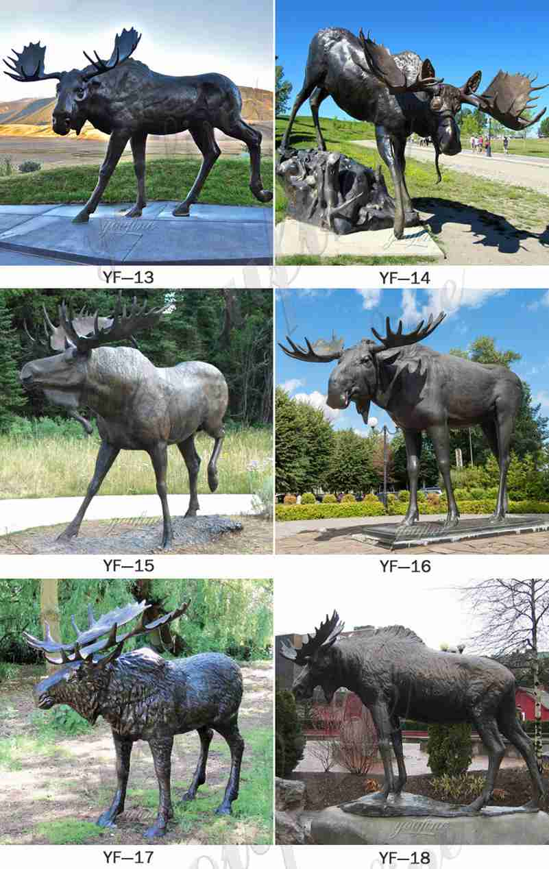 Outdoor Bronze Deer Statue for Sale
