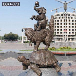 Outdoor Bronze Tortoise Cat Elephant Animal Statue Garden Decor for Sale BOKK-373