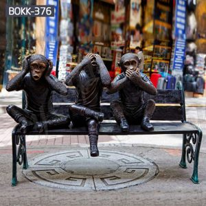 Outdoor Garden Bronze Three Wise Monkey Statues Suppliers BOKK-376