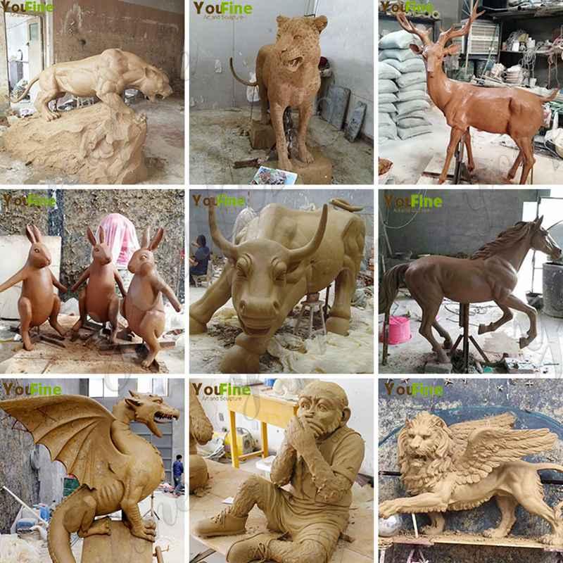 Outdoor Garden Bronze Three Wise Monkey Statues