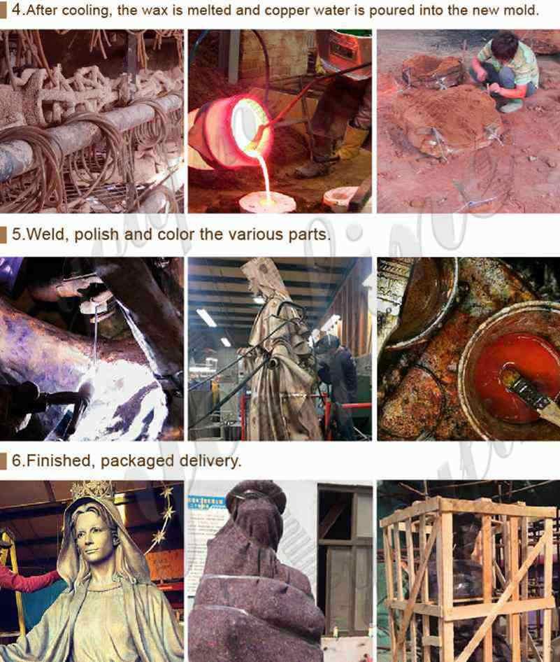Process of Bronze Religious Statue