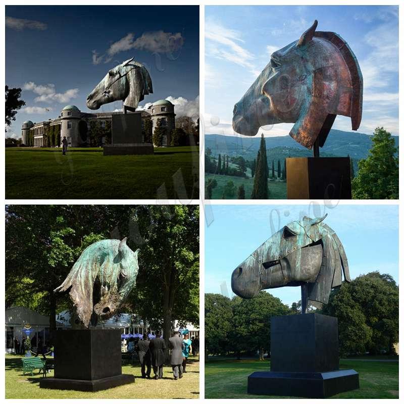 large bronze horse statues