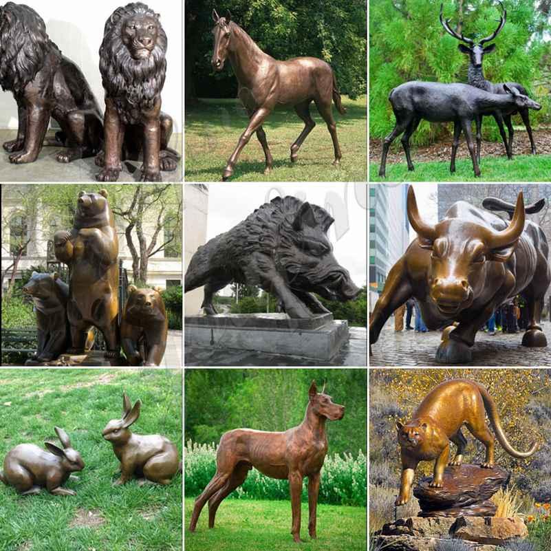 large garden animal statues