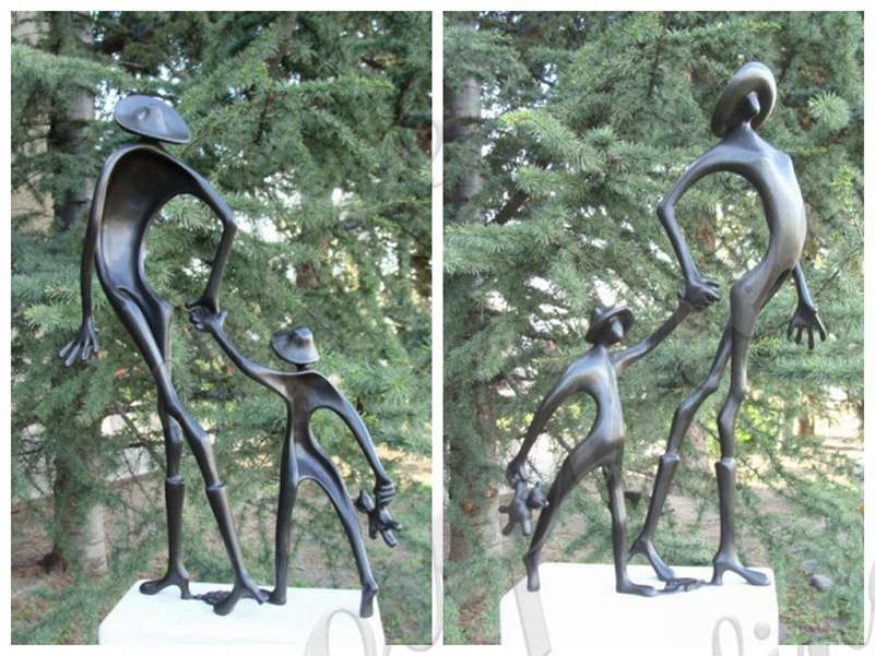 Cute Childhood Life Size Bronze Sculpture for Sale