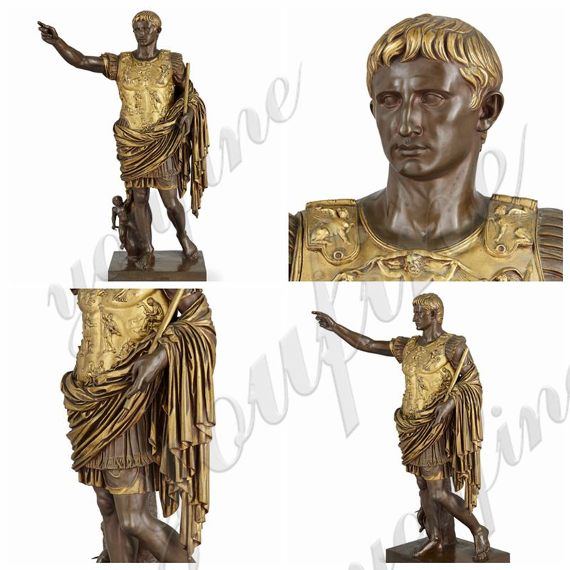 Famous Augustus Caesar Bronze Sculpture by Barbedienne