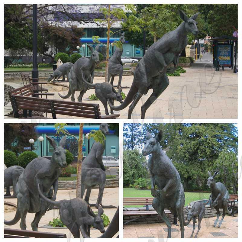 Large Kangaroo Bronze Sculpture