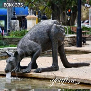 Life Size Cast Bronze Kangaroo Sculpture Garden Decor for Sale BOKK-375