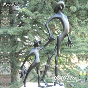 Outdoor Abstract Cute Childhood Life Size Bronze Sculpture for Sale BOKK-895
