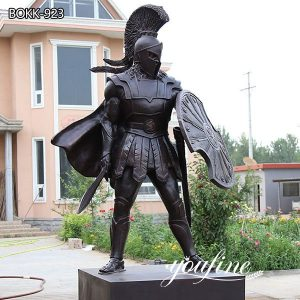 Bronze Spartan Warrior Statue Life Size Military Bronze Statue for Sale BOKK-923