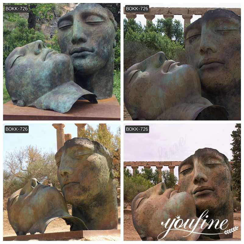 Bronze face sculpture for sale