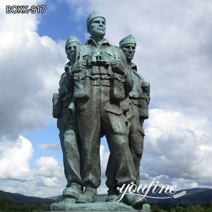 Large Commando Monument Bronze Soldier Statue for Sale BOKK-917