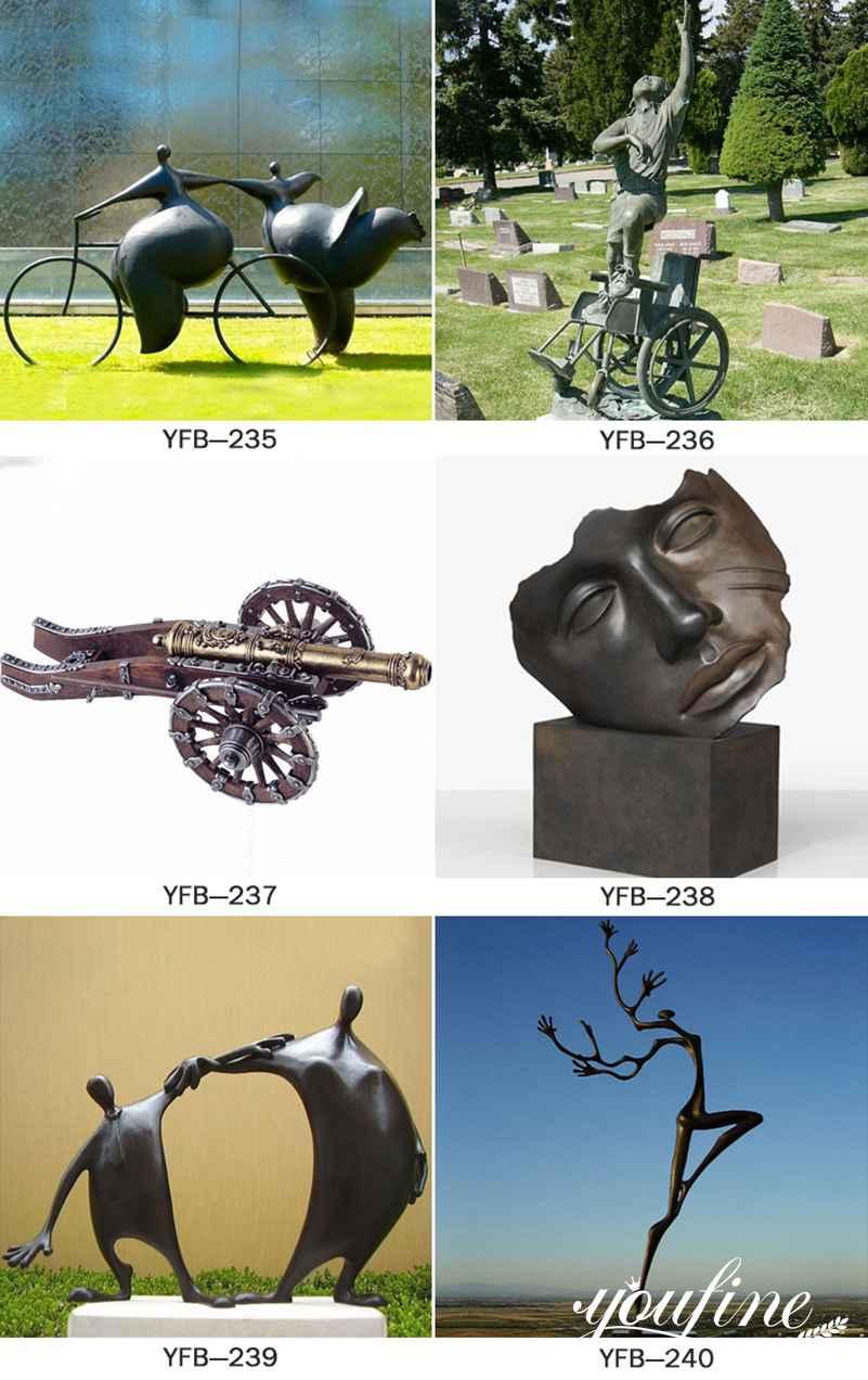 Custom Bronze Bust Face Statue by Igor Mitoraj for Sale