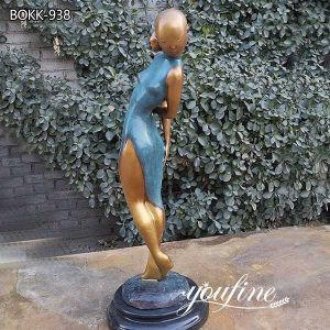 Custom Made Life Size Bronze Girl Statue for Garden Decor for Sale BOKK-938