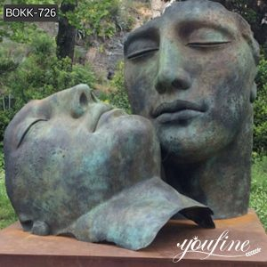 Outdoor Igor Mitoraj Bronze Face Sculpture Custom Bronze Statues for Sale BOKK-726